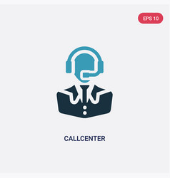Two color callcenter icon from professions vector