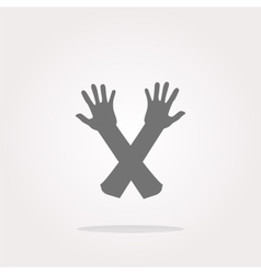 web button hand icon on white Web Icon Art vector image