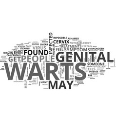 What are the symptoms and treatments for genital vector