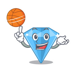 With basketball sapphire gems isolated in the vector
