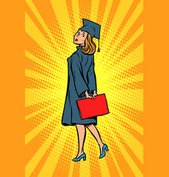 woman graduate of the college or university vector image