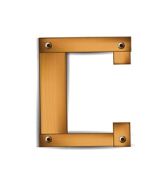 Wooden type c vector