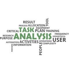 Word cloud - task analysis vector