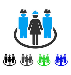 Worker social relations flat icon vector