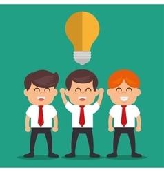 Business people idea success plan design vector