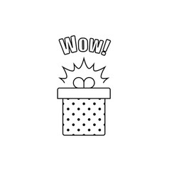 congratulations gift box perfect present prize vector image vector image