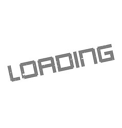 Loading rubber stamp vector