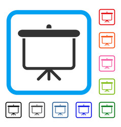 projection board framed icon vector image