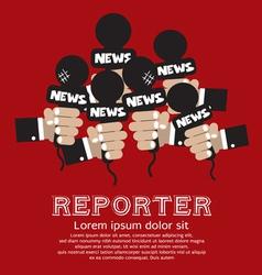 Reporter concept vector