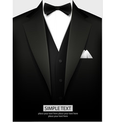 tuxedo with bow vector image vector image