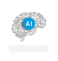 Artificial intelligence banner vector