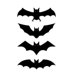 bat silhouettes - Halloween vector image