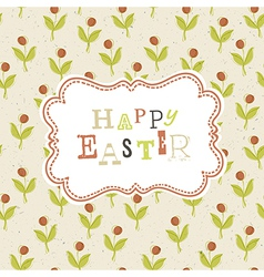 easter greeting card background vector image