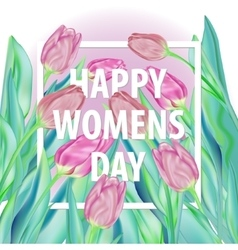 Happy Womens Day Typographical Background With vector image