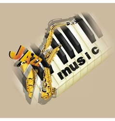 jazz music background with saxophone vector image vector image