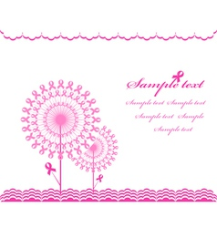 cabstract pink Support Ribbon background vector image