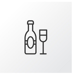 champagne icon symbol premium quality isolated vector image vector image
