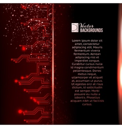 Circuit background with light effect vector image vector image