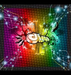 dj flyer background vector image