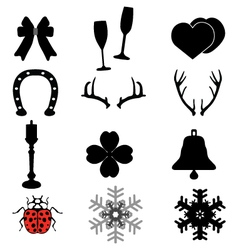 icons for happy vector image vector image