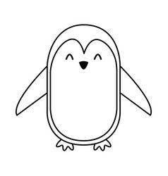 line icon penguin cartoon vector image vector image