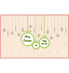 balls with Merry Christmas and Happy New Year vector image