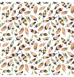 Boho style feather seamless pattern vector image
