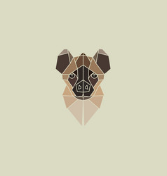 hyena geometry head logo vector image