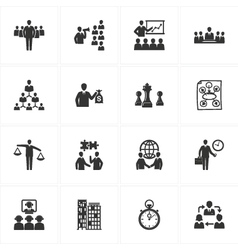 Management and Business Icons vector image vector image