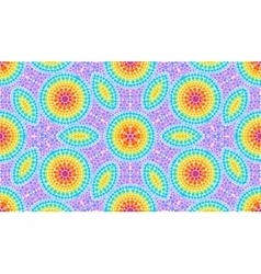 Rainbow colors dotted art seamless pattern tile vector image