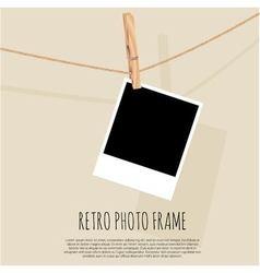 Retro photo frame vector image