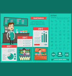 Small business infographic template vector