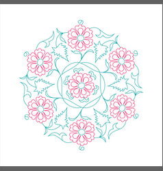 01 floral pattern line tale vector