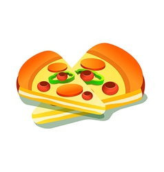 A pice of pizza vector