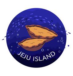 Abalone on jeju island vector