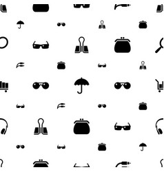 accessory icons pattern seamless white background vector image