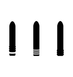Adult sex toys various straight dildo set icon eps vector