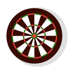 aiming circle icon dartboard sign party vector image