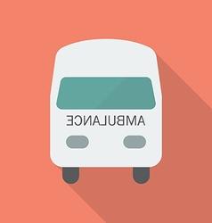 Ambulance Flat Style vector image