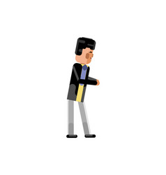 Asian businessman giving a bow vector