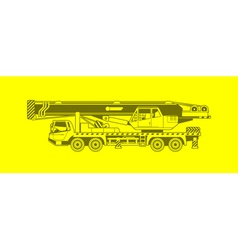 autocrane vector image