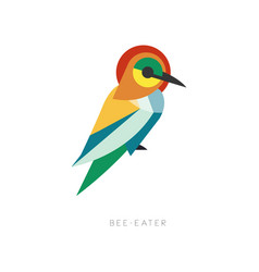 Beautiful silhouette bee-eater composed from vector