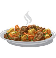 Beef stew meat vector