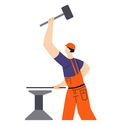 Blacksmith craft building or construction works vector