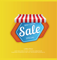bright sticker design for sale promotion vector image