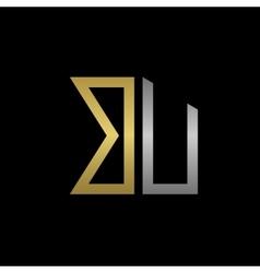 BU letters logo vector
