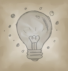 Bulb symbol sketch creative idea concept vector