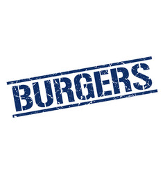 Burgers stamp vector
