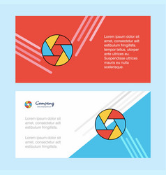 camera shutter abstract corporate business banner vector image