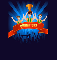 Champions poster vector